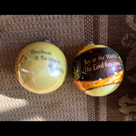 Set Glass Christmas Ornaments